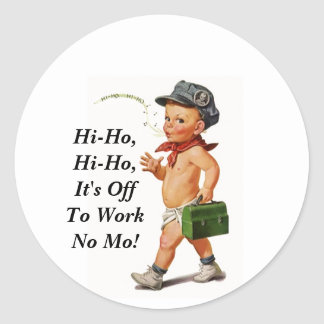Sticker Vintage Retirement Hi-Ho Work Whistler