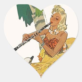 Sticker Vintage Retro Blowing Flute Its a Hoot Fla