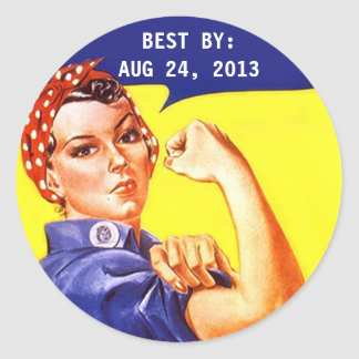 Sticker Vintage Rosie The Riveter Canning BEST BY