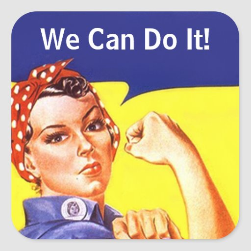 Sticker Vintage Rosie The Riveter We Can Do It! | Zazzle