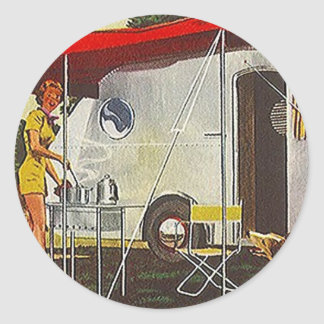 Sticker Vintage Tin Can Aluminum Camper Glamping