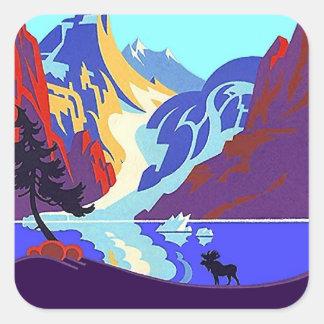 Sticker Vintage Travel Promo Up North Moose Lake
