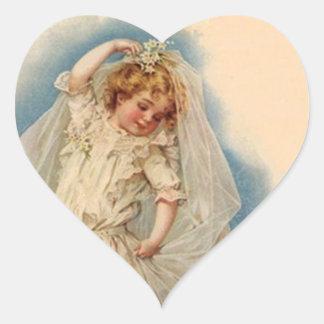 Sticker Vintage Victorian Bride Wedding Gown Dream