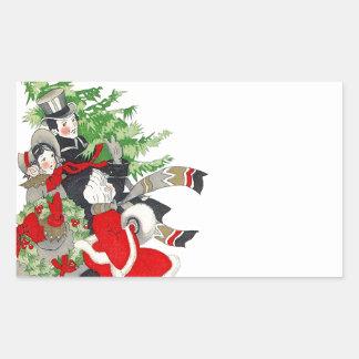 Sticker Vintage Victorian Christmas Tree Tradition