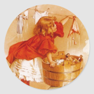 Sticker Vintage Victorian Fashions Ad Soap Laundry
