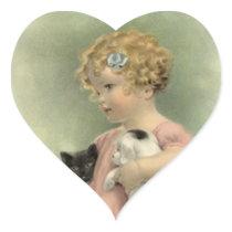 Sticker Vintage Victorian Strays Animal Rescue Cat