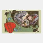 Sticker Vintage Victorian Valentine Lady Fashions