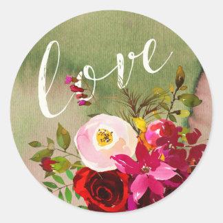 STICKER | Watercolor Floral Rustic Boho Wedding