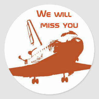 Sticker - We will miss the Space Shuttle 4