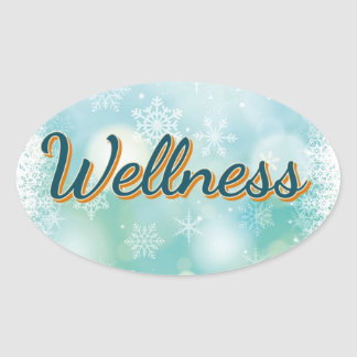 "Sticker ""Wellness"" For Your Good Health."