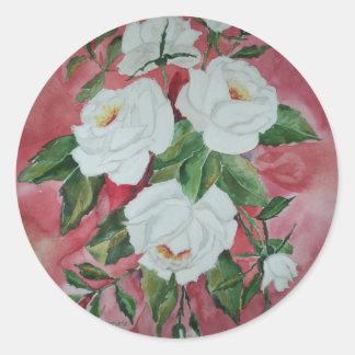 Sticker White Roses