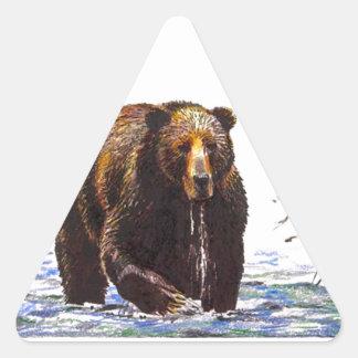 Sticker Wildlife Grizzly Bear Stream Fishing Hike