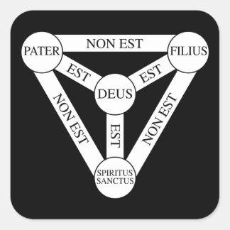 Sticker wit the Scutum Fidei/Shield of the Trinity