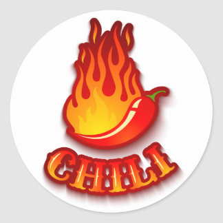 Sticker with a red hot chili pepper