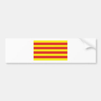"""Sticker with Catalan Flag """"Serenya Bumper Sticker"""