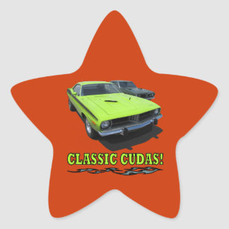 Sticker With Classic Cudas Design