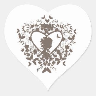 Sticker with decorative heart pattern