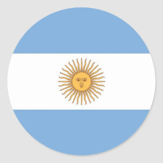 Sticker with Flag of Argentina