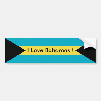 Sticker with Flag of Bahamas
