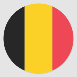 Sticker with Flag of Belgium
