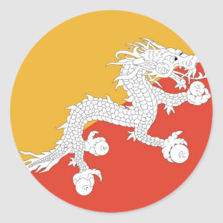 Sticker with Flag of Bhutan