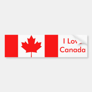 Sticker with Flag of Canada