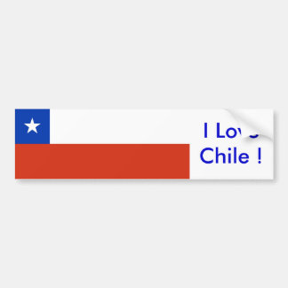 Sticker with Flag of Chile