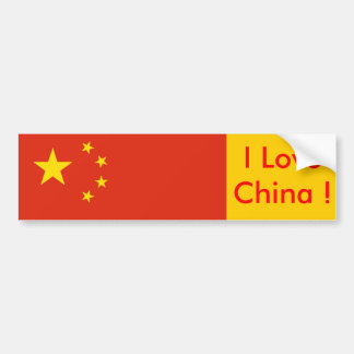 Sticker with Flag of China Car Bumper Sticker