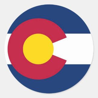 Sticker with Flag of Colorado