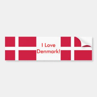 Sticker with Flag of Denmark