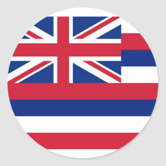 Sticker with Flag of Hawaii