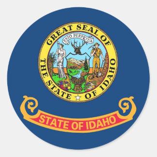 Sticker with Flag of Idaho