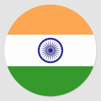 Sticker with Flag of India