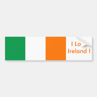 Sticker with Flag of Ireland