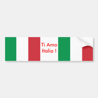 Sticker with Flag of Italy