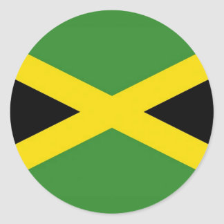 Sticker with Flag of Jamaica