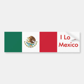 Sticker with Flag of Mexico
