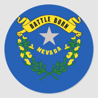 Sticker with Flag of Nevada