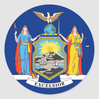 Sticker with Flag of New York