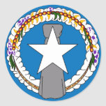 Sticker with Flag of Northern Mariana Islands