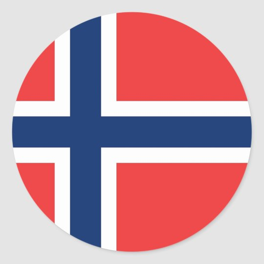 Sticker with Flag of Norway
