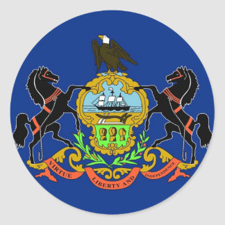 Sticker with Flag of Pennsylvania