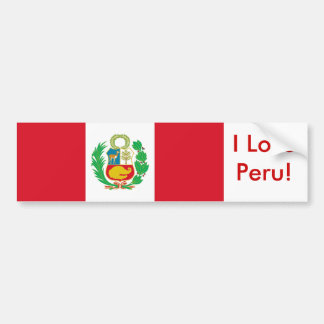 Sticker with Flag of Peru