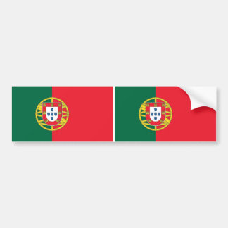 Sticker with Flag of Portugal Car Bumper Sticker