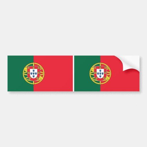 Sticker with Flag of Portugal Car Bumper Sticker