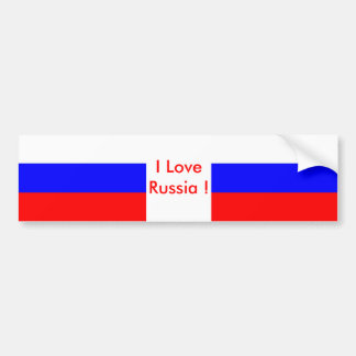 Sticker with Flag of Russia