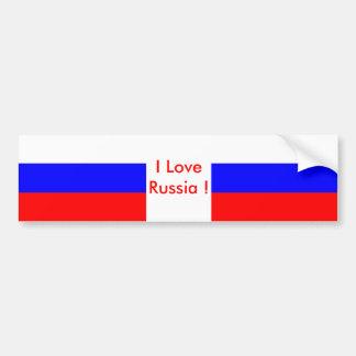 Sticker with Flag of Russia Bumper Sticker