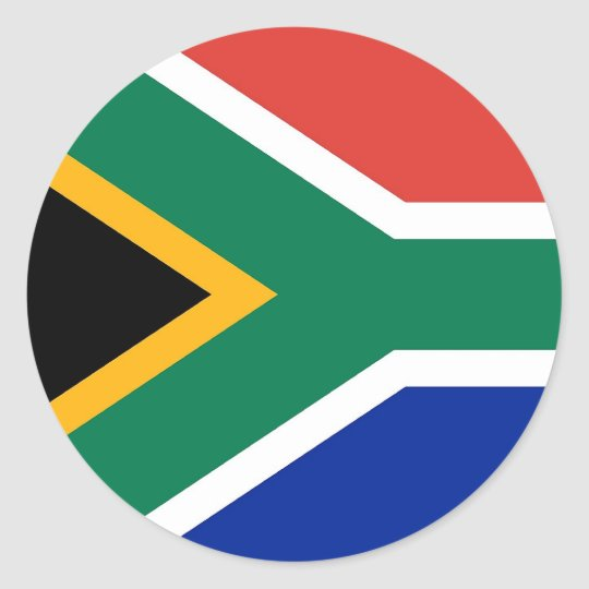 Sticker with Flag of South Africa