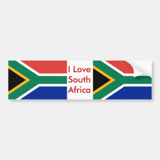 Sticker with Flag of South Africa Car Bumper Sticker