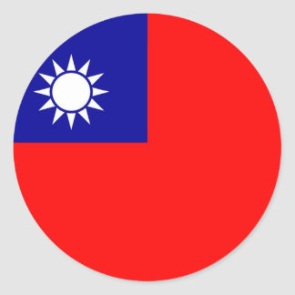 Sticker with Flag of Taiwan